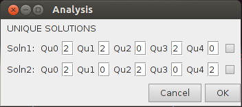 Diagram of Analysis popup