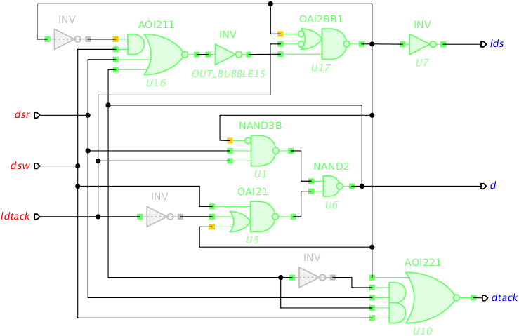 Breaking timing arcs in VME circuit