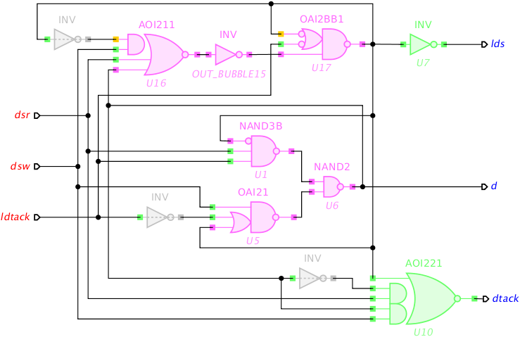 Breaking self-loop timing arcs in VME circuit